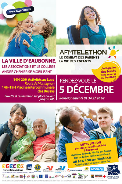 T l thon 2015 agenda bougez eaubonne accueil for Piscine intercommunale des bussys