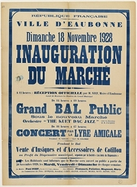 Archives_Affiche inauguration Marché